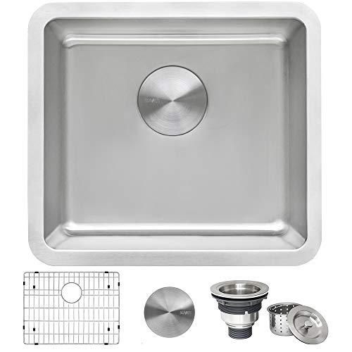 Ruvati 18-inch Undermount Bar Prep Kitchen Sink 16 Gauge Stainless Steel Single Bowl - RVM5916