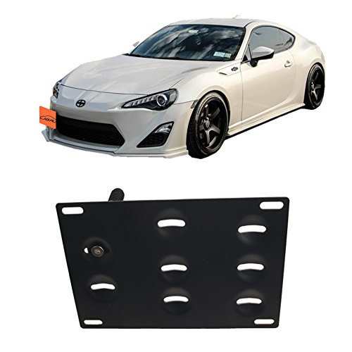 JGR Racing JDM Car No drill Tow Eye Front Bumper Tow Hole Hook License Plate Mount Bracket Holder Relocation Kit For 2013-2016 Scion FR-S 2015-2016 Subaru WRX/WRX STi Forester Impreza Toyota 86