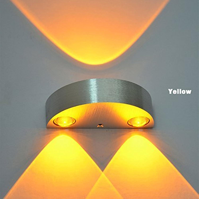 Wand Lampe 3W LED Indoor Marke neue AC 110V 220V Schlafzimmer Decora (Farbe  gelb)