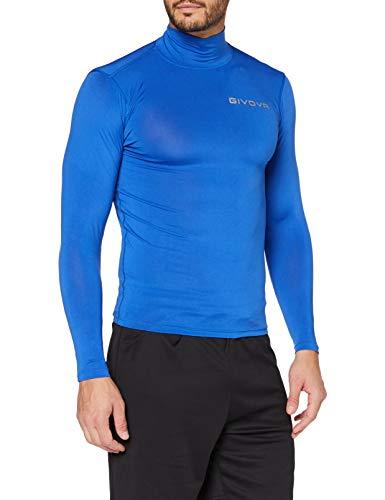 Givova Corpus 3 Lupetto Maglia Intima Elastico M/L Camiseta Interior, Hombre, Azul, S