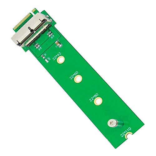 QNINE PCIe SSD auf M.2 Key M Adapterkarte für 2013 2014 2015 2016 2017 MacBook Air Pro Retina, Festplattenkonverter auf Ngff M2, Support-Modell A1465 A1466 A1398 A1502