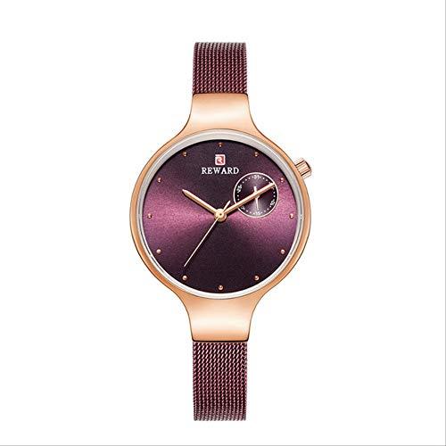 WLKVUOT Dameshorloge Fashion Lady Purple Watchband Waterdicht Casual