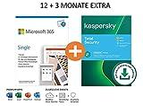 Microsoft 365 Single 12+3 Monate Abonnement   1 Nutzer   Mehrere PCs/Macs, Tablets und mobile...