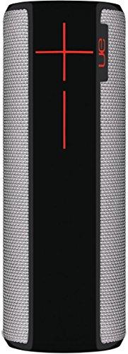 Ultimate Ears Boom 2 Tragbarer Bluetooth-Lautsprecher, 360° Sound, Wasserdicht und Stoßfest, App-Navigation, Kann mit weiteren Lautsprechern verbunden werden, 15-Stunden Akkulaufzeit - grau/schwarz