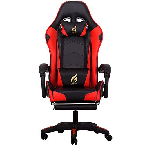 Racing Gaming Chair, YQAD Cortex Lifting Gaming Chair PU Leather Office Recliner For Gamer E-Sports Racing Style Armchair Ultimate Gaming Experience-B
