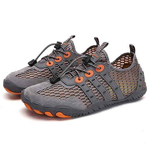 Wapipey Zapatillas de Drenaje de Secado rápido Anfibio al Aire Libre Calzado de Buceo con Soledad Gruesa Antideslizante Playa de Moda Junto al mar Zapatos ascendentes Zapatos de Escalada de Roca para