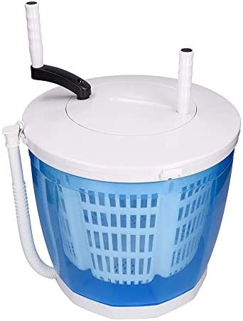 MEIHG Mini Washing Machine for Compact Laundry with Spin Dryer Hand Cranked Non Electric Top product image