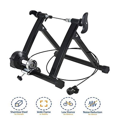 TANCEQI Entrenamiento Bicicleta Rodillo, Soporte para Entrenador estática, portátil Reducción de Ruido/Marco de Hierro Fácil de Desmontar Fija estacionario para Montar en el Interior