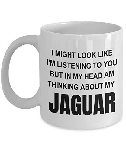 Jaguar Gifts, Novelty Mugs, I Might Look Like I'm Listening, Birthday Gift, Funny Coffee Mug Tea Cup, Christmas Presents - wm3323 (11oz)