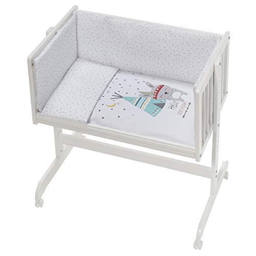 Interbaby CT014-09 - Minicuna Colecho Tipi Oso Blanco, unisex