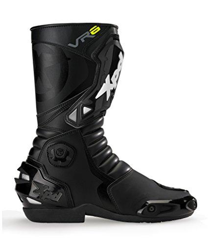 XPD - Stivali da Moto VR6, Nero, 46