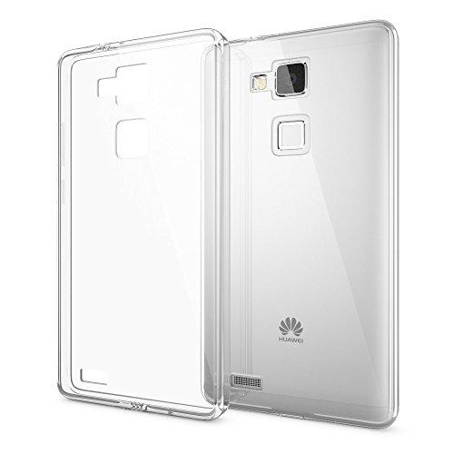 NALIA Funda Carcasa Compatible con Huawei Ascend Mate 7, Protectora Movil Transparente Silicona Ultra-Fina con TPU Bumper, Smart-Phone Cubierta Cobertura Delgado Clear Cover Back-Case - Transparente