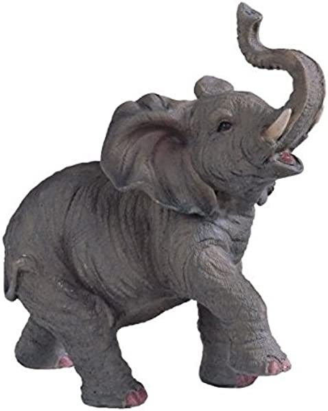 StealStreet SS G 54135 Small Polyresin Elephant With Trunk Up Figurine Statue 6 5