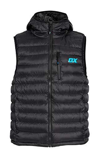 OX Ribbed Padded Jacket Gilet X-Large zwart