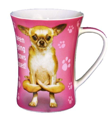 Paws Pet croisé Yoga Mug en porcelaine