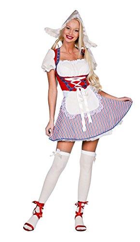 Damen Kostüm sexy Holländerin Dirndl Karneval Fasching Gr.40