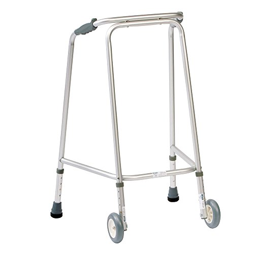 NRS Healthcare Walking Frame (Wheeled) N73259 Adjustable Height - Medium (Eligible for VAT relief in the UK)