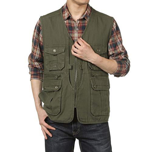 XXT Vest multi-pocket lente mouwloos groot formaat gereedschap casual dunne jas Warm