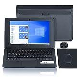 Laptop 10.1 Zoll Notebook , Windows 10 Quad Core Netbook Computer, Full HD IPS-Display Leptop,...