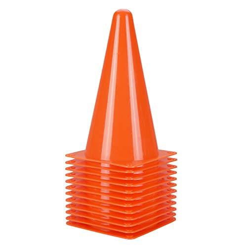Alyoen {Upgraded} 9 Inch Soccer Training Cones – 10 Pack of Plastic Traffic Cones, Sports Cones for Outdoor&Indoor Activity and Festive Events