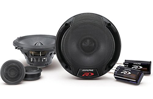 Alpine Spr-50c 5.25-Inch 2 Way Pair of Component Car Speaker System, Black