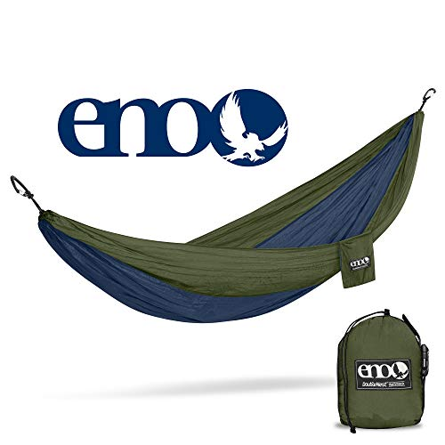 ENO - Eagles Nest Outfitters DoubleNest Lightweight Camping Hammock, 1 to 2 Person, Navy/Olive
