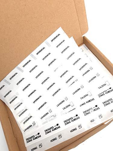 Etiquetas adhesivas para cuadros eléctricos (16 textos)