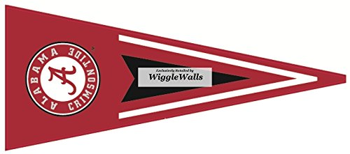 9 Inch Pennant Flag University of Alabama Crimson Tide ACT Logo Removable Wall Decal Sticker Art NCAA Home Room Decor 9 by 3 1/2 Inches