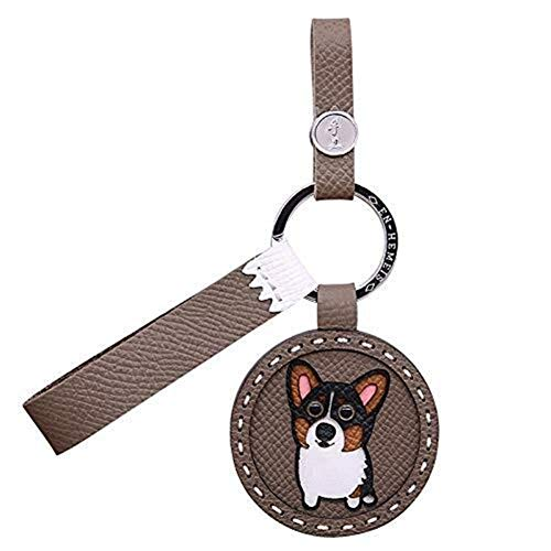Schlüsselbund Leder Schlüsselbund handgefertigt Custom Corgi Hund Porsche Schlüsselbund Anhänger süße Tasche Charme Leder Geburtstagsgeschenk Schlüsselring für Männer Frauen