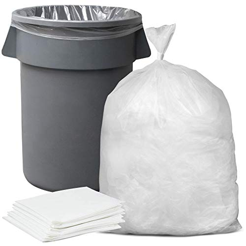 "Plasticplace 55-60 gallon Trash Bags │ 1.5 Mil │ Clear Heavy Duty Garbage Can Liners │ 36"" x 58"" (50 Count)"