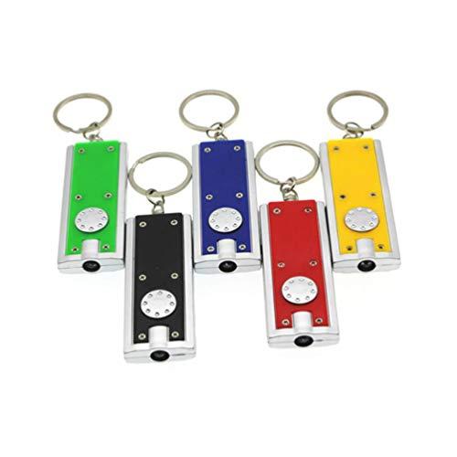 Uonlytech - Llavero de bolsillo con luz LED, linterna de bolsillo y...