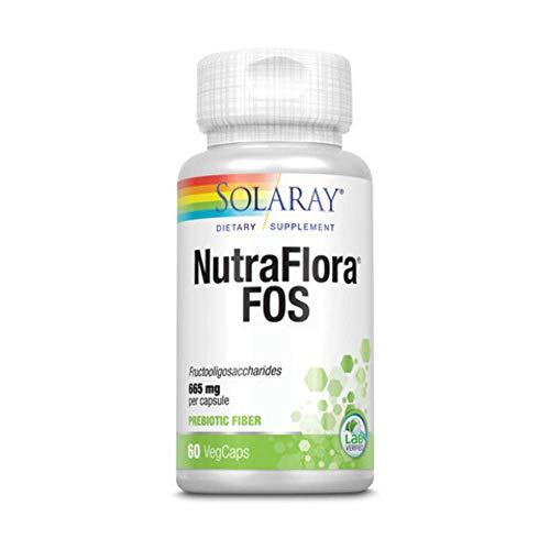 Solaray NutraFlora FOS Prebiotic   60 ct 770 mg