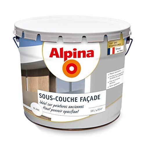 ALPINA Sous-couche opacifiante pour façade - Mat Blanc 10L 70m²