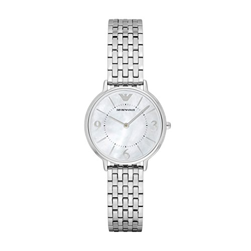 Emporio Armani Damen Analog Quarz Uhr mit Edelstahl Armband AR2507