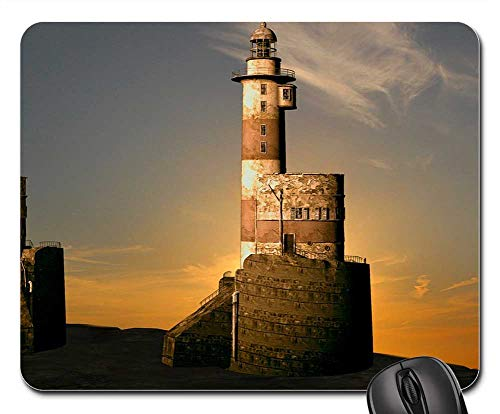 Mouse Pad - Lighthouse Evening Sunset Ebb Sea Lighthouses 1