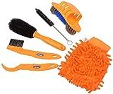 kit limpieza bicicleta Kit de Cepillo de Limpieza de Bicicletas uego de de Herramientas de Limpieza de Bicicletas juego de herramientas para limpiar cadenas Profesional Limpieza (6 piezas)
