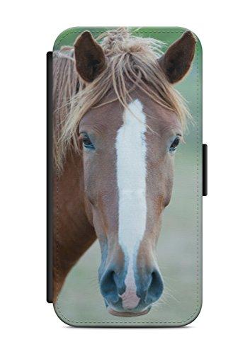 aina Geeignet für iPhone 6 & 6s Flipcase Handytasche Hülle mit Magnetverschluss auffklappbar Pferd Motiv Bild