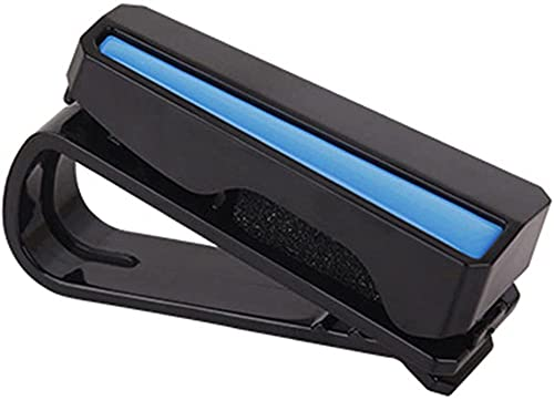 CZCLZG Fit, for Car Auto Sun Visor Gafas Caja Gafas de Sol Clip Tarjeta Ticket Holder Sujetador Estuche para bolígrafos Accesorios para anteojos (Nombre del Color: PC-Blue) -PC-Black