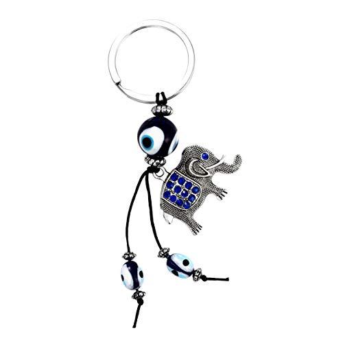 GARNECK Lucky Elephant Keychain Creative Turkey Eyes Metal Alloy Keyring Fashionable Gift Hanging Ornament