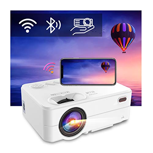WiFi Bluetooth Projector - Artlii Enjoy 2 Mini Projector for iPhone Support Full HD 1080P, Keystone & Zoom, 200' Portable Movie Projector Compatible with TV Stick, iOS, Android