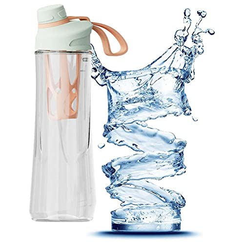 PUNELE Botella de agua con infusor de frutas, 700 ml a prueba de fugas con pajita, botella de agua para senderismo al aire libre, camping, escalada, viajes