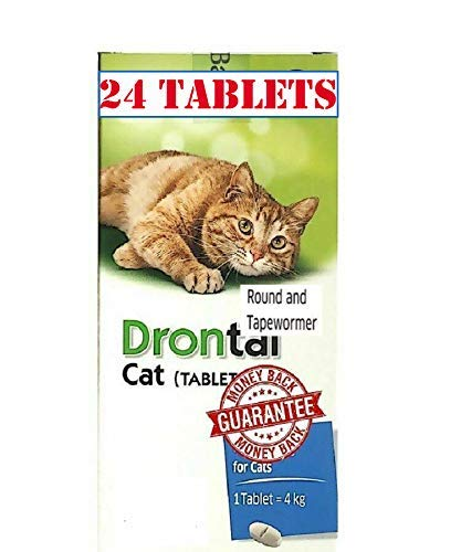Pet Care 24 Tablet Cat Roundworm and Tapeworm Dewormer, Original Boxed