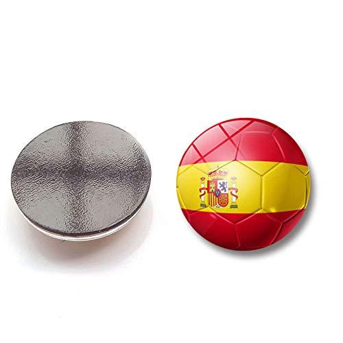 Drreny Etiqueta engomada refrigerador Bandera fútbol