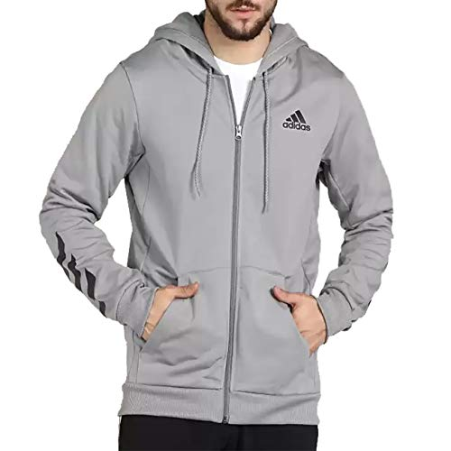 adidas Men's Climawarm Full-Zip Performance Fleece Hoodie (Grey/Grey,...