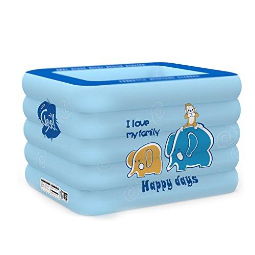 Baignoire pliante anti-glissante de piscine gonflable de piscine, baignoire portative bleue Bath plus épais d'isolation Baignoire pliable gonflable de maison de bains Baths grande taille de siège