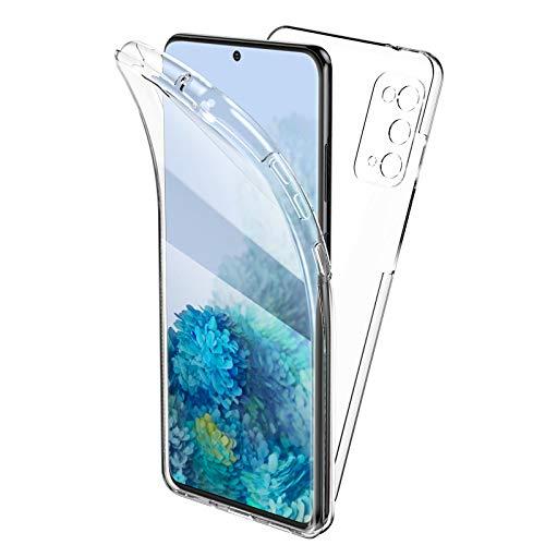 Oududianzi Funda para Samsung Galaxy S20 FE, 360 Grados Protección Diseñada, Transparente Ultrafino Silicona TPU Frente y PC Back Carcasa Belleza Original Funda de Doble Protección - Transparente