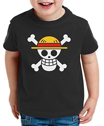 Camiseta infantil de pirata con logo de One Pice.