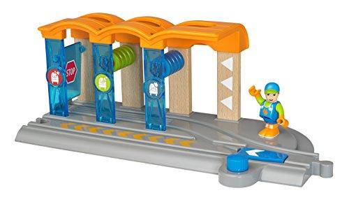 BRIO-33874 BRIO 33874-Smart Tech Túnel de Lavado para Locomotora Inteligente, Multicolor (33874) , color/modelo surtido