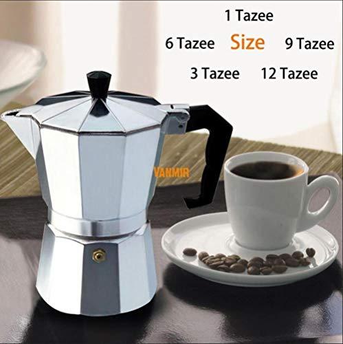 IXL 1cup / 3cup / 6cup / 9cup / 12cup Moka Espresso Machine/Aluminium Italian Stove Top // Percolator Tool, 1cup