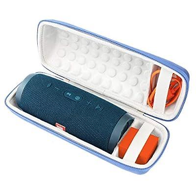 Khanka Hard Protective Travel Case for JBL Charge 4 Portable Bluetooth Waterproof Speaker.(Blue exterior,White interior) from Khanka